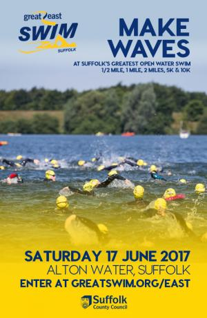 Advert for Great East Swim Challenge 2017