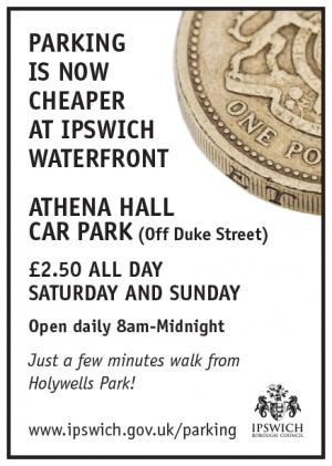 Cheaper parking at the Waterfront advert