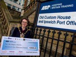 Councillor Sarah Barber ABP Cheque