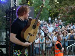 Ed Sheeran at Ipswich Music Day