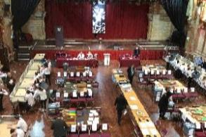 Image of the Grand Hall set out ready for the count