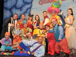 Panto cast in costume