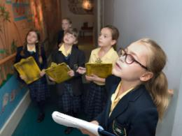 Students at Ipswich Museum