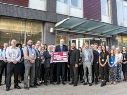 Ipswich Borough Council employees with pledge board