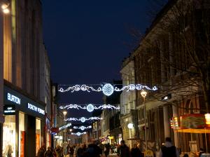 Christmas lights in Ipswich