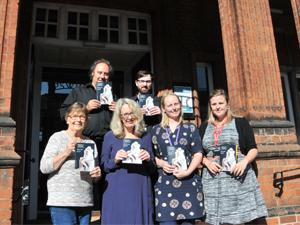 Councillor Carole Jones and staff outside Ipswich Museum