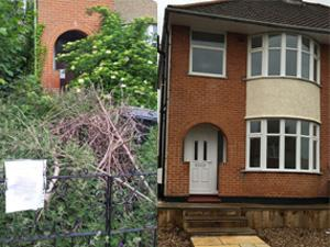 Empty home before and after renovation