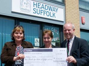 Headway cheque presentation