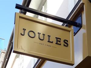 Joules shop sign