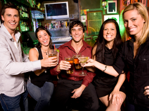 Group of people in bar