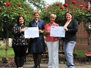 Karen Burgess and Ali Brett, Bereavement Midwife at Ipswich Hospital, with Councillor Sophie Meudec, portfolio-holder (right) and Toni Nunn, of Ipswich Borough Council's Bereavement Services (left)
