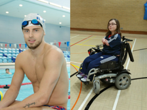 Paralympic athletes Ryan Crouch and Evie Edwards