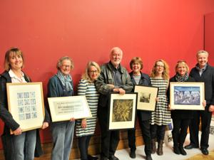 Sudbourne Printmakers with Christchurch Mansion prints