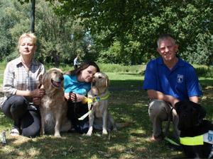From left: Carolyn Allum, Emma Free and Simon Daws, volunteers for Guide Dogs UK