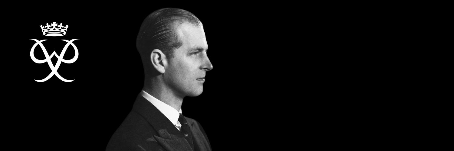 Image of Prince Philip on black background